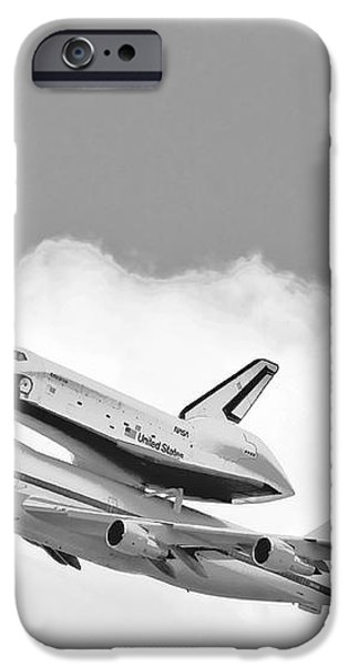 Enterprise Shuttle Over NY iPhone Case by Regina Geoghan