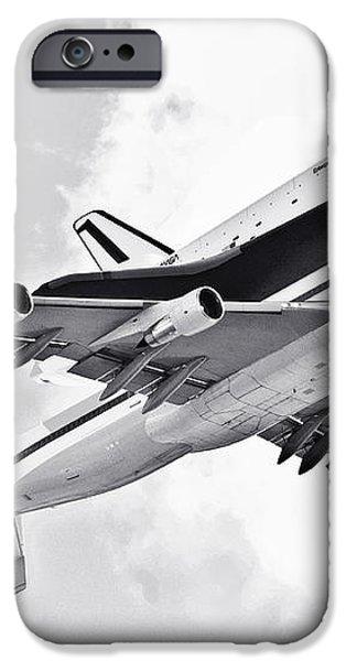 Enterprise Shuttle Piggyback Ride iPhone Case by Regina Geoghan