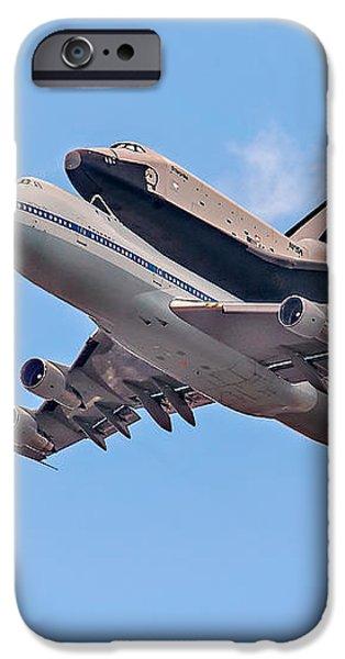 Enterprise Space Shuttle  iPhone Case by Susan Candelario