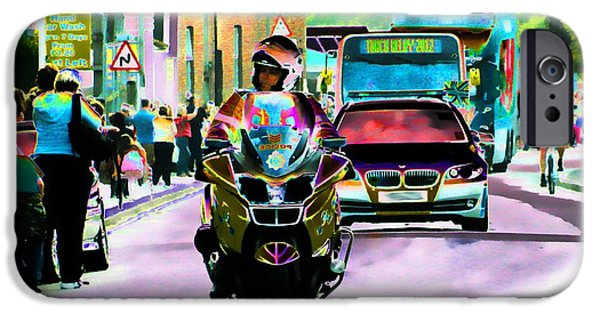 Police Art iPhone Cases - Entourage iPhone Case by Sharon Lisa Clarke