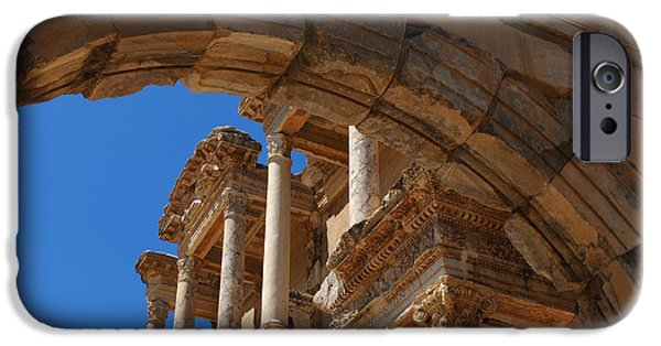 Ephesus iPhone Cases - Ephesus Library Turkey iPhone Case by Bob Christopher