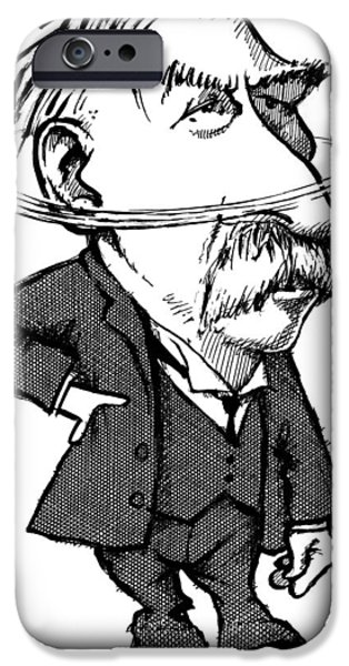 Ernest Rutherford, Caricature iPhone Case by Gary Brown