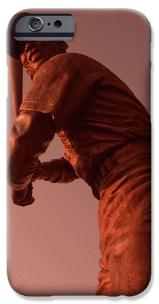 Wrigley Field iPhone Cases - Ernie Banks Sculpture iPhone Case by Sven Brogren