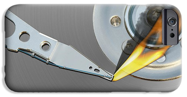 Electrical Equipment iPhone Cases - Error iPhone Case by Michal Boubin