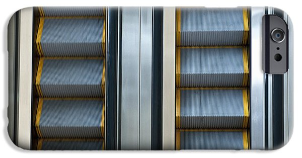Stainless Steel iPhone Cases - Escalators iPhone Case by Dave & Les Jacobs