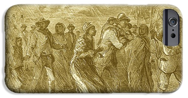 Antislavery iPhone Cases - Escaping To Underground Railroad iPhone Case by Photo Researchers