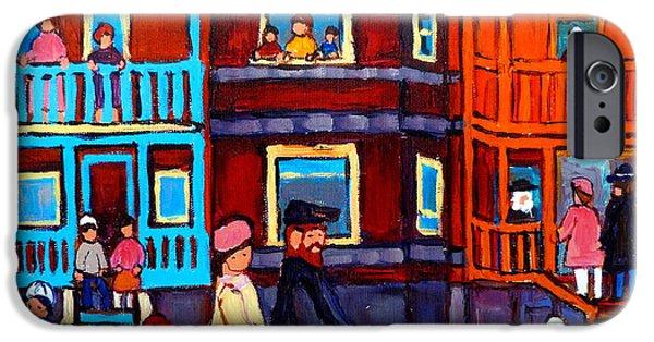Outremont iPhone Cases - Esplanade Street Sabbath Walk iPhone Case by Carole Spandau