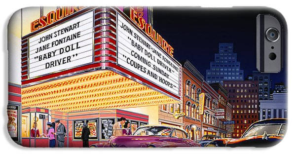 City Scape Photographs iPhone Cases - Esquire Theater iPhone Case by Bruce Kaiser