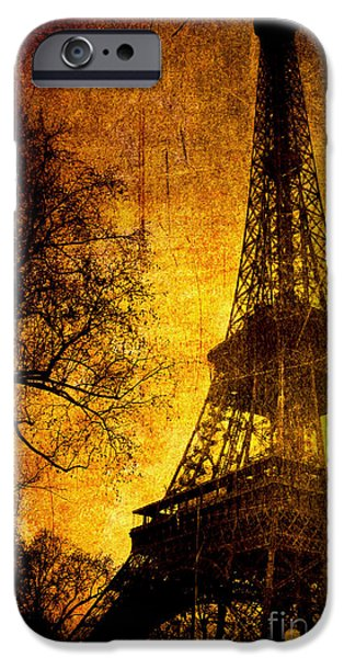 Layered Digital Art iPhone Cases - Esthetic Luster iPhone Case by Andrew Paranavitana
