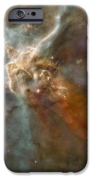 Jet Star iPhone Cases - Eta Carinae Nebula, Hst Image iPhone Case by Nasaesan. Smith (university Of California, Berkeley)hubble Heritage Team (stsclaura)