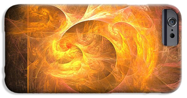 Colorful Abstract Algorithmic Contemporary iPhone Cases - Eternal flame - Abstract digital art iPhone Case by Sipo Liimatainen