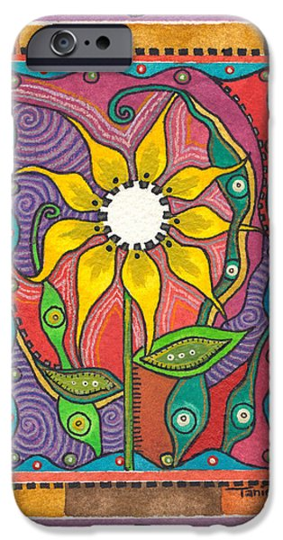 Nature Center Paintings iPhone Cases - Eternity iPhone Case by Tanielle Childers