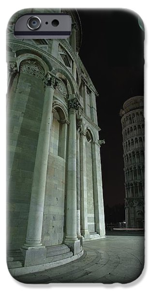 The Duomo iPhone Cases - Ethereal Moonlight Scene Of Duomo Santa iPhone Case by Carson Ganci