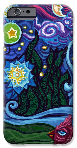 Genevieve Esson iPhone Cases - Etoile Noire Bleu iPhone Case by Genevieve Esson