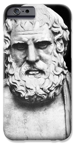 Statue Portrait iPhone Cases - Euripides iPhone Case by Granger