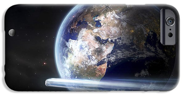Terrestrial Sphere iPhone Cases - Europe Is Burning In War, Climate iPhone Case by Tobias Roetsch