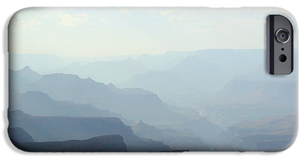 Grand Canyon iPhone Cases - Evening Blues iPhone Case by Heidi Smith