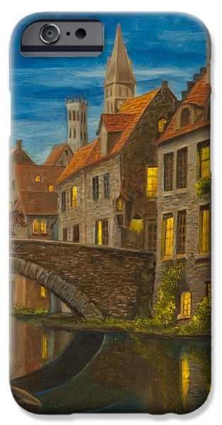 Evening in Brugge iPhone Case by Charlotte Blanchard