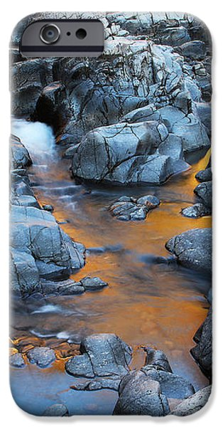 Evening Light on the Black River at Johnsons Shut Ins State Park III iPhone Case by Greg Matchick
