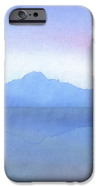 Reflection Pastels iPhone Cases - Evening on the Water iPhone Case by Hakon Soreide