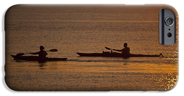 Kayak iPhone Cases - Evening on the Water iPhone Case by Mike Reid