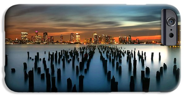 Hudson River iPhone Cases - Evening Sky Over the Hudson River iPhone Case by Larry Marshall