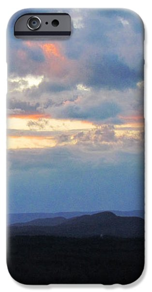Evening Sky over the Quabbin iPhone Case by Randi Shenkman