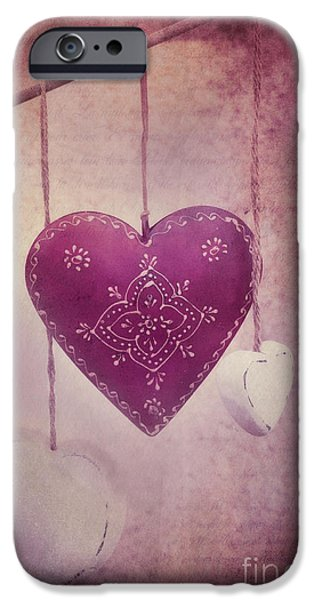 Hearts iPhone Cases - Ever And Anon iPhone Case by Priska Wettstein