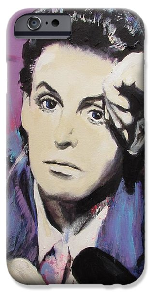 Beatles Pastels iPhone Cases - Evolution of Paul McCartney iPhone Case by Eric Dee