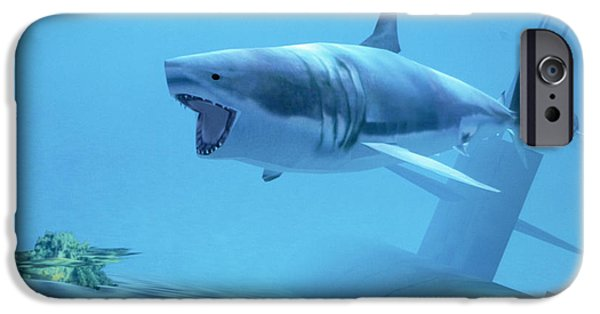 Virtual iPhone Cases - Example Of Reality Centre Graphics, Shark iPhone Case by David Parker