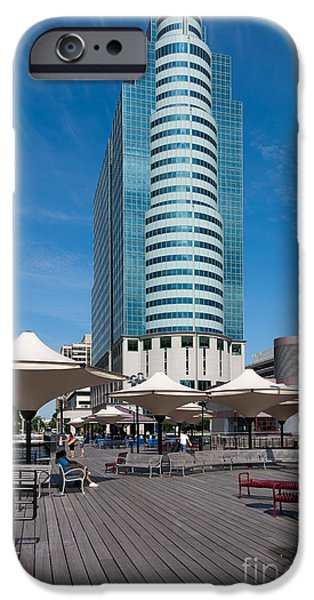 Exchange Place iPhone Cases - Exchange Place Centre II iPhone Case by Clarence Holmes