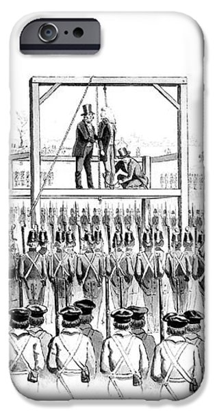 Execution Of John Brown, American iPhone Case by Photo Researchers