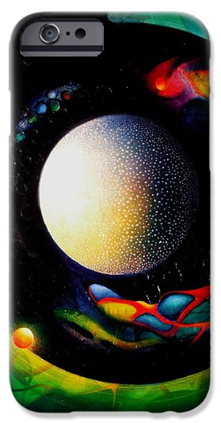 Macrocosm iPhone Cases - Exit iPhone Case by Drazen Pavlovic