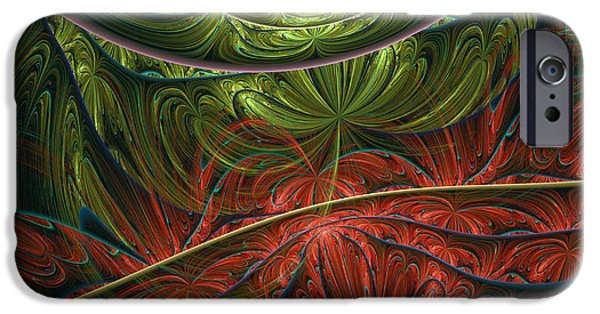 Asymmetrical iPhone Cases - Exotic Paradise Abstract iPhone Case by Georgiana Romanovna