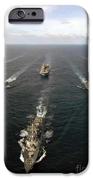 Recently Sold -  - Yorktown iPhone Cases - Expeditionary Strike Group Two iPhone Case by Stocktrek Images