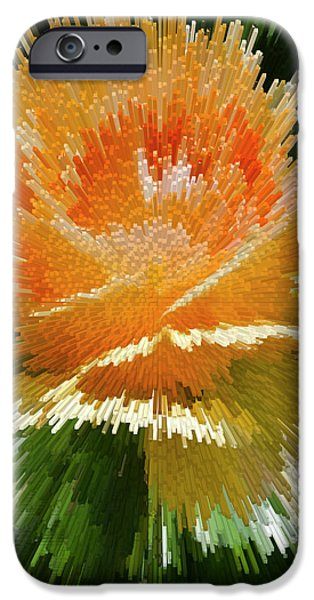 Nature Abstract iPhone Cases - Explosion  iPhone Case by Brian Roscorla