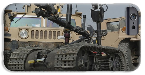 Baghdad iPhone Cases - Explosive Ordnance Disposal Robot Used iPhone Case by Stocktrek Images