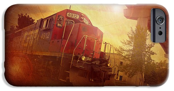 Appleton Art iPhone Cases - Express Train iPhone Case by Joel Witmeyer