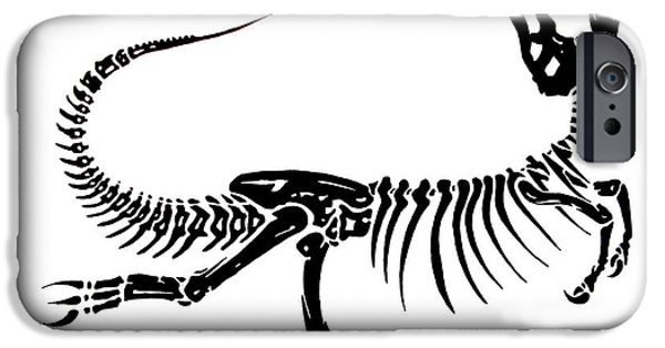 Basic Drawings iPhone Cases - Extinction iPhone Case by Jack Norton
