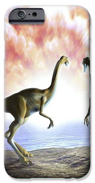 Extinction Of The Dinosaurs, Artwork iPhone Case by Jose Antonio PeÑas