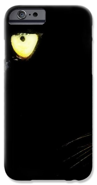 Eye of the Panther iPhone Case by KAREN WILES