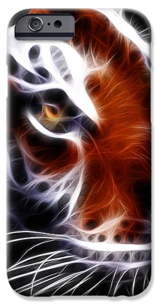The Tiger iPhone Cases - Eye of The Tiger 2 iPhone Case by Wingsdomain Art and Photography