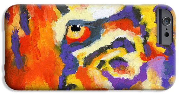 Large Cats iPhone Cases - Eye of the Tiger iPhone Case by Stephen Anderson
