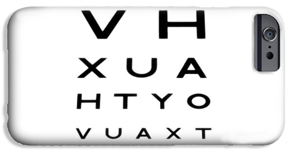 Cut-outs iPhone Cases - Eyesight Test Chart iPhone Case by