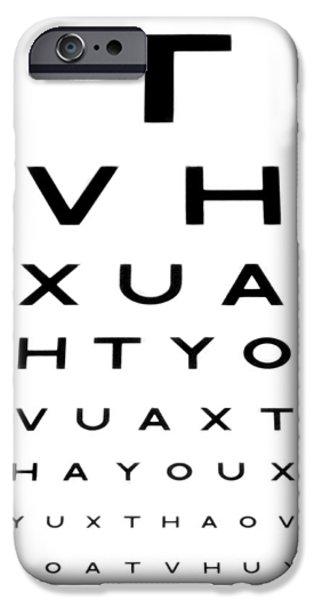 Eyesight Test Chart iPhone Case by