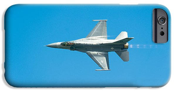 Aircraft iPhone Cases - F-16 Full Speed iPhone Case by Sebastian Musial