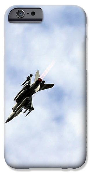 F-16 Of The Belgian Air Force iPhone Case by Luc De Jaeger