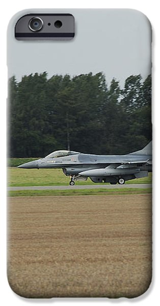 F-16 Of The Belgian Air Force Ready iPhone Case by Luc De Jaeger