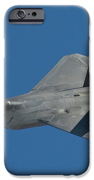 F-22 Lightning 2 fighter iPhone Case by Tim Mulina