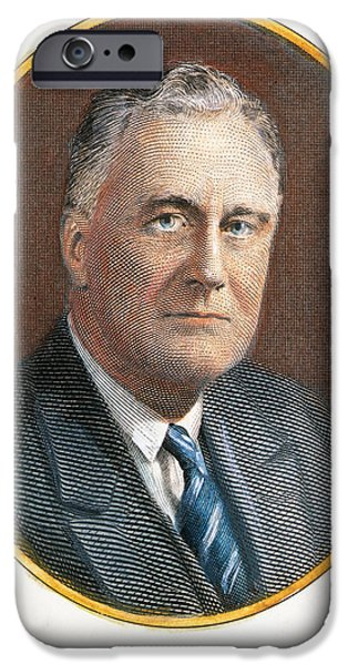 1940s Portraits iPhone Cases - F. D. Roosevelt (1882-1945) iPhone Case by Granger